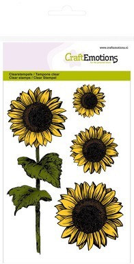 CE: Clear Stamp; Sunflowers
