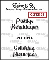 Crealies: Clear Stamp; Kerst