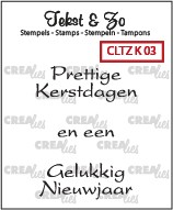 Crealies: Clear Stamp; Kerst 3