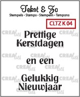 Crealies: Clear Stamp; Kerst 4