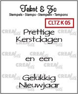 Crealies: Clear Stamp; Kerst 5