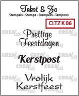 Crealies: Clear Stamp; Kerst 6