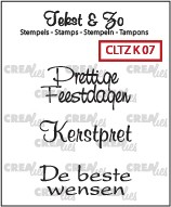 Crealies: Clear Stamp; Kerst 7