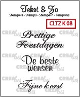 Crealies: Clear Stamp; Kerst 8