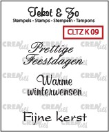 Crealies: Clear Stamp; Kerst 9