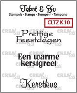 Crealies: Clear Stamp; Kerst 10