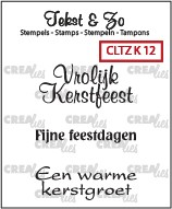 Crealies: Clear Stamp; Kerst 12