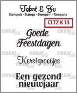 Crealies: Clear Stamp; Kerst 13