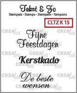Crealies: Clear Stamp; Kerst 15
