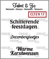 Crealies: Clear Stamp; Kerst 17