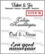 Crealies: Clear Stamp; Kerst 18