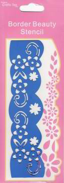 Crafts-Too: Border Beauty Stencil; Flowers