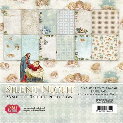 Craft & You: Paperpack 15x15; Silent Night