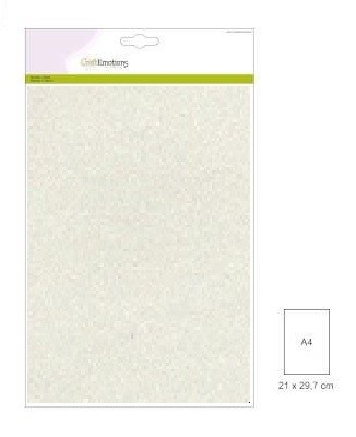 CraftEmotions: 5 vel glitterpapier 29 x 21 cm; 120 grams, CHAMPAGNE