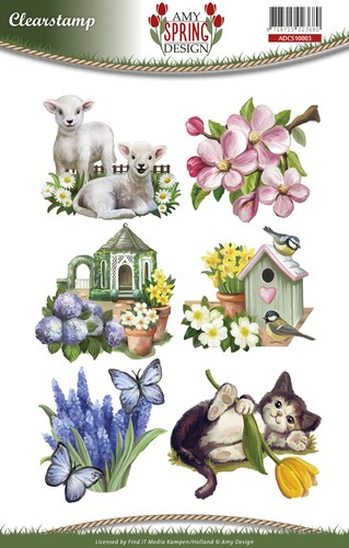 Amy Design - Spring: Clear stamp;