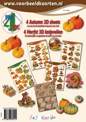 4 for you: 4 Herfstknipvellen - Autumn 3D sheets