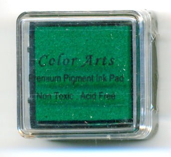 Color Arts Stempelkussen: 30 x 30 mm; groen