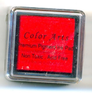 Color Arts Stempelkussen: 30 x 30 mm; red