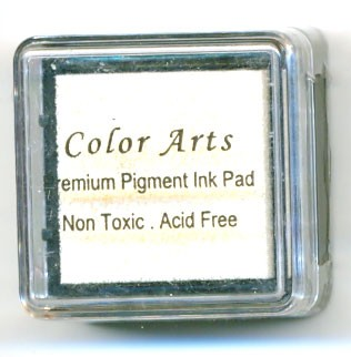 Color Arts Stempelkussen: 30 x 30 mm; white