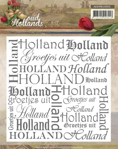 Amy Design: Oud Hollands; Embossing Folder,
