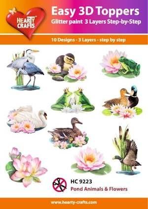 Hc easy 3d pond animals flowers welkom op de internet winkel van beertje creatief Easy pond shop