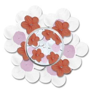 CM: Paper Flowers; White/Orange combi