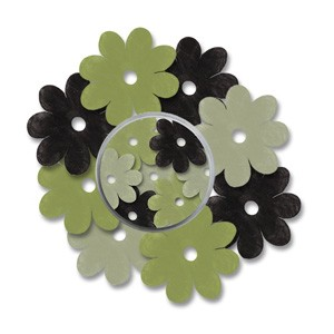 CM: Paper Flowers; Green/Black combi