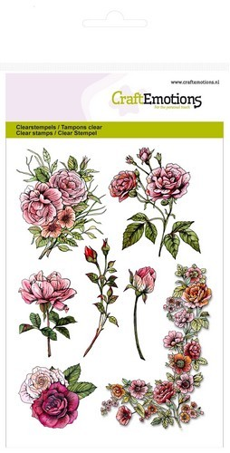CE: Clear Stamp; Botanical Rose Garden 1 (corner)