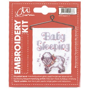 CM: Embroidery Kit; Baby Sleeping
