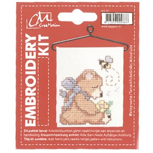 CM: Embroidery Kit; Bear Sleeping