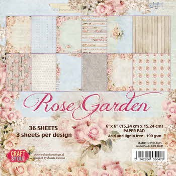 Craft and You: Paper pad 15/15; ROSE GARDEN