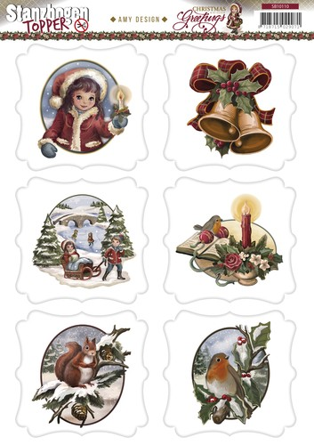 Amy Design - Christmas Greetings: Push Out, Toppers