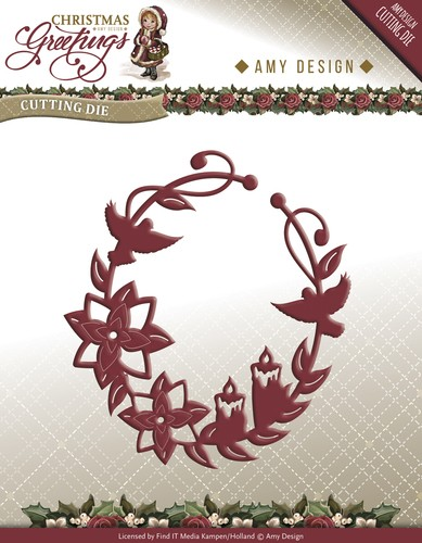Amy Design - Christmas Greetings: Die, Ornament