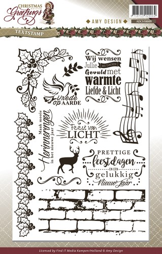 Amy Design - Christmas Greetings: Clear stamp, TEKST