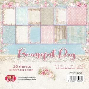 Craft&You: Small Paper Pad 6x6; Beautiful Day