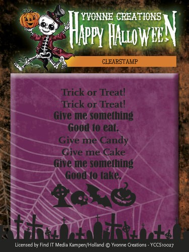 CD: Yvonne; Happy Halloween, Clear stamp