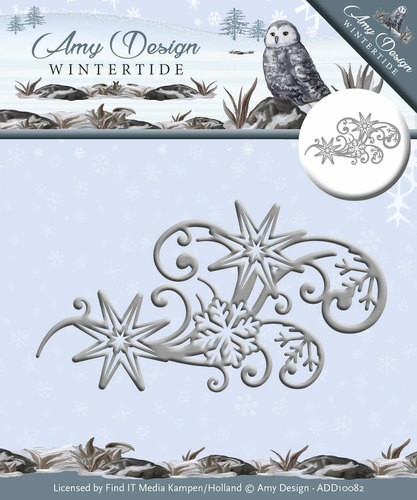 Amy Design - Wintertide - Die - Ice Crystal Swirl