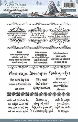 Amy Design - Wintertide - Clear stamp - Tekst