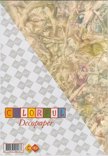 Carddeco: Decopaper A4; 5 pcs 200grs, Yvory-Yellow