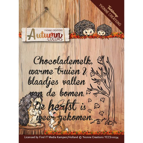 Yvonne Creations - Autumn Colors: Clear Stamp - Tekst