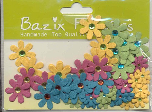 Bazix Flowers: Juweled Florettes; 74 pcs