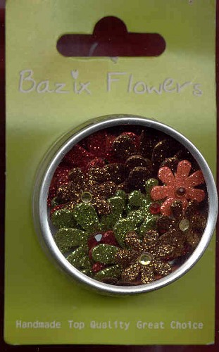 Bazix Glitter Flowers: small 28 pcs