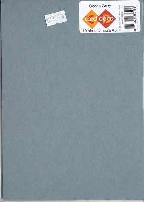 Card Deco A5 karton: Ocean Grey