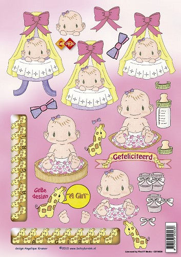 Card Deco - Betsy Lurvink - It`s a Girl