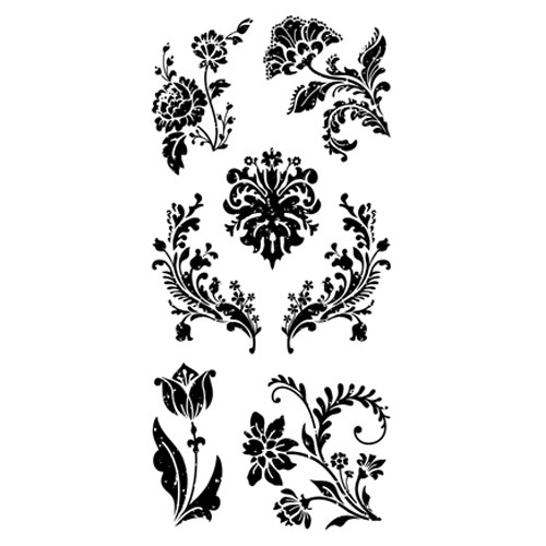 Clear stamp: Floral Damask