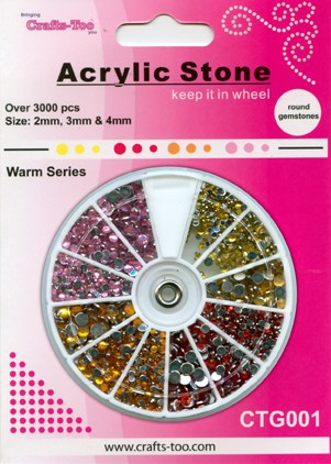 Acrylic Stone Warm Colors