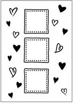 Crafts Too: Embossing Folder: Hearts / Frames