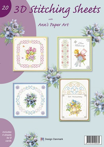 3D Stitching Sheets 20 with Ann`s Paper Art