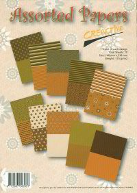 Assorted Papers 10 pcs A5, 115 grs