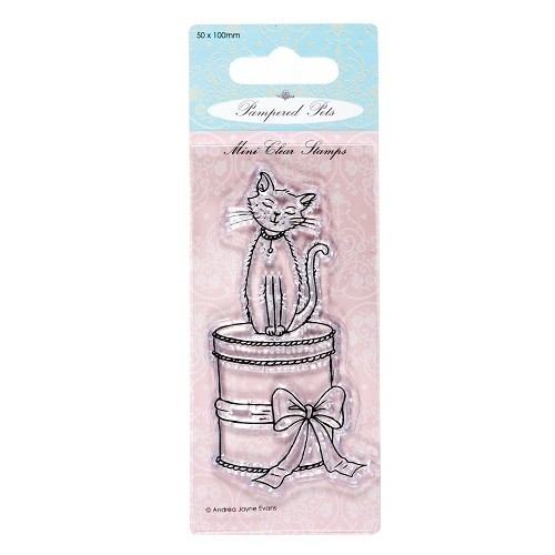 50 x 100mm mini clear stamps - pampered pets (sitting pretty)